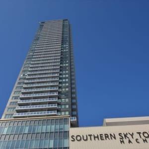 総戸数390戸のビッグコミュニティ タワー型マンション 平成22年築 最上階 南向きにつき採光 眺望良好 ウォークインクローゼット2箇所につき収納充実 ペット飼育可能 八王子駅まで徒歩1分以内物件です(外観)