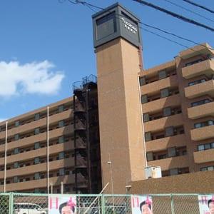 総戸数117戸のビッグコミュニティ 安心のアフターサービス保証付 オートロック付きセキュリティー安心 最上階 浴室には追い焚き機能有り 最寄り駅徒歩8分以内 ペット飼育可能物件です(外観)