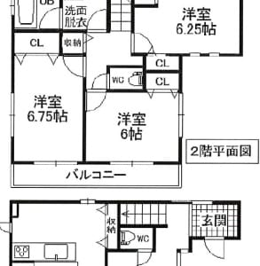 平成18年築 カースペース3台分あり 南道路 (間取)