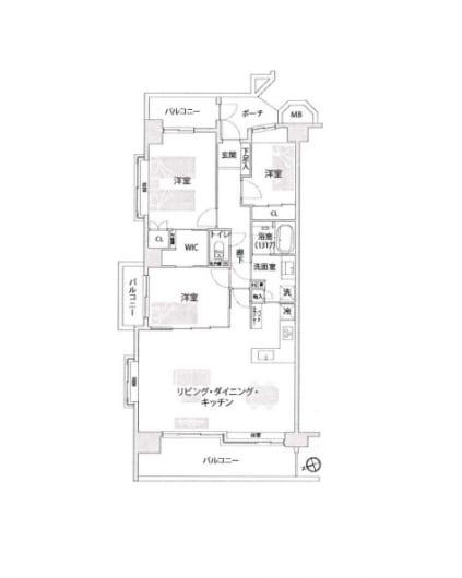 新規内装リフォーム アフターサービス保証付 角部屋(間取)