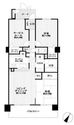 新規内装リノベーション 全居室が6帖以上 綺麗なお部屋です(間取)