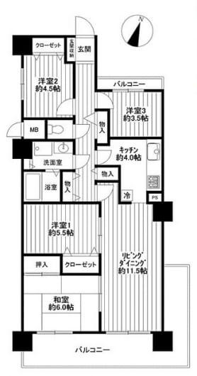 総戸数432戸のビッグコミュニティ内装リフォーム済(間取)
