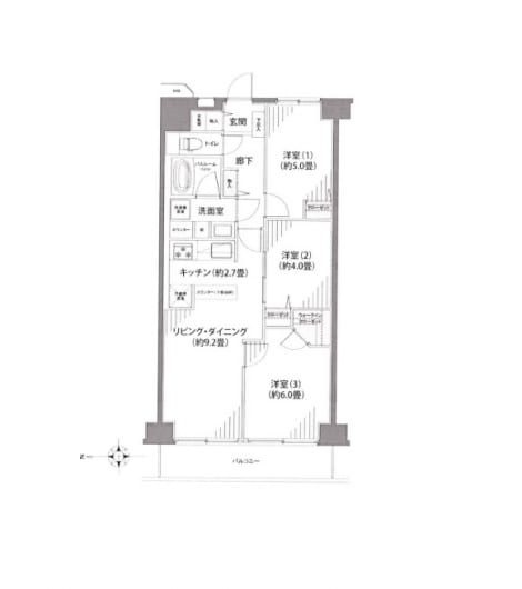 総戸数211戸のビッグコミュニティフラット35s適合可能(間取)