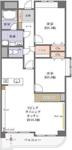 新規内装リノベーション 駅徒歩9分 ペット飼育可能(間取)