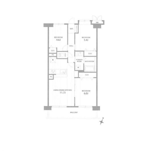 住宅ローン減税適合物件 アフターサービス保証付き 南東向き(間取)