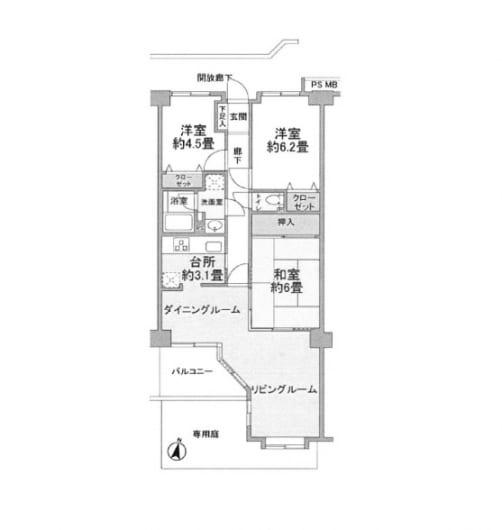 住宅ローン減税適合 南向き 専用庭有り ペット飼育可(間取)