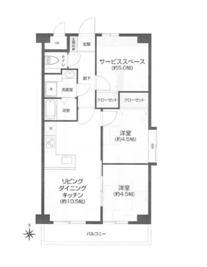 住宅ローン減税適合物件 陽当り・眺望・通風良好(間取)
