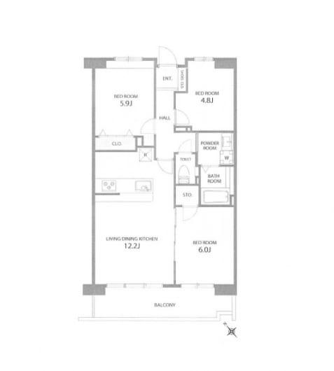住宅ローン減税適合物件 アフターサービス保証付き (間取)
