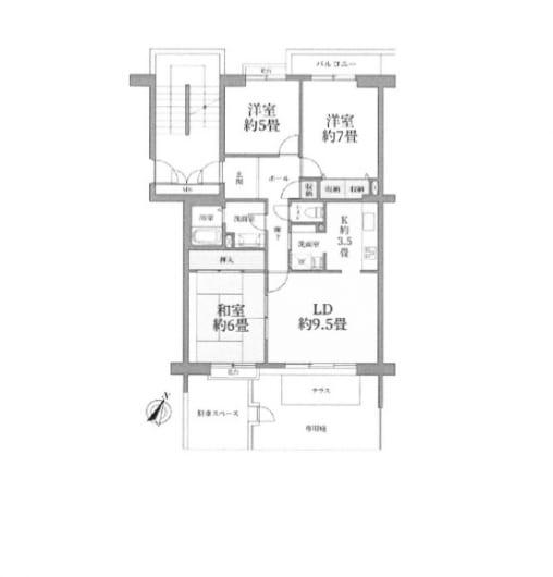 住宅ローン減税適合物件 陽当り良好 専用庭付き(間取)