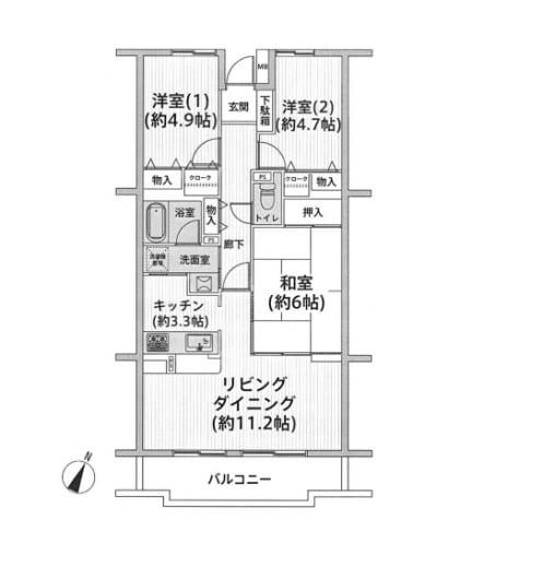 住宅ローン減税適合物件 陽当り・眺望良好(間取)