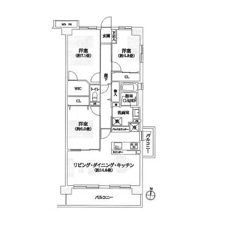 住宅ローン減税適合物件 アフターサービス保証付き(間取)